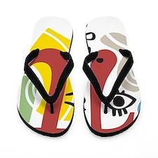 Pi Symbol Pi-Casso Flip Flops