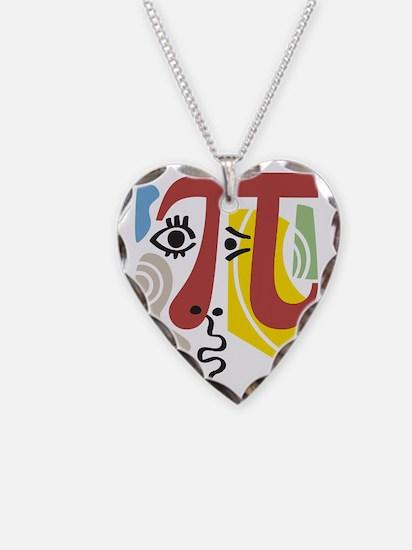 Pi Symbol Pi-Casso Necklace Heart Charm