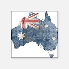 "vintageAustralia7 Square Sticker 3"" x 3"""