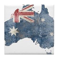 vintageAustralia7 Tile Coaster