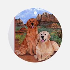 twodogs_525tiles Round Ornament