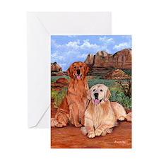 twodogs9x12h Greeting Card