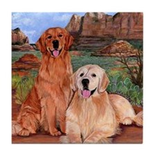 twodogs9x12h Tile Coaster