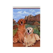 twodogs_notebook Rectangle Magnet