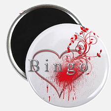 Bingo Heart Floral Reto 2 Magnet