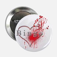 "Bingo Heart Floral Reto 2 2.25"" Button"