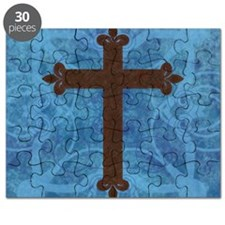 Cross blue mousepad Puzzle