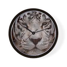 (15) White Tiger 4 Wall Clock