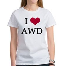 White, I Heart AWD Tee
