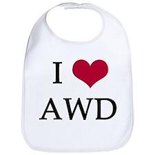 I Heart AWD Baby Bib