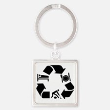 curling Square Keychain