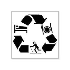 "biathlon Square Sticker 3"" x 3"""