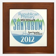 Santorum MICHIGAN Framed Tile