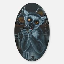 Pirate Lemur Sticker (Oval)