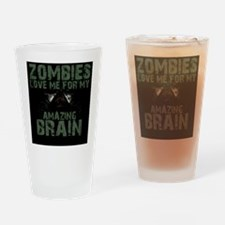 Zombies Love Me (iPhone) Drinking Glass