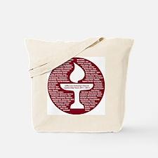 Leadership design maroon Tote Bag