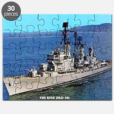 king dlg framed panel print Puzzle
