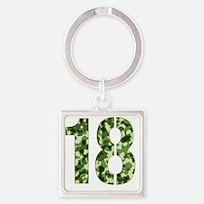 18 Square Keychain