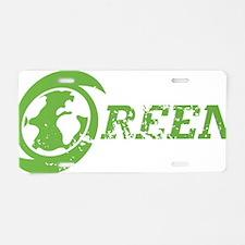 OrganicGreen2A Aluminum License Plate
