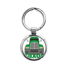 jaxon-b-trucker Round Keychain