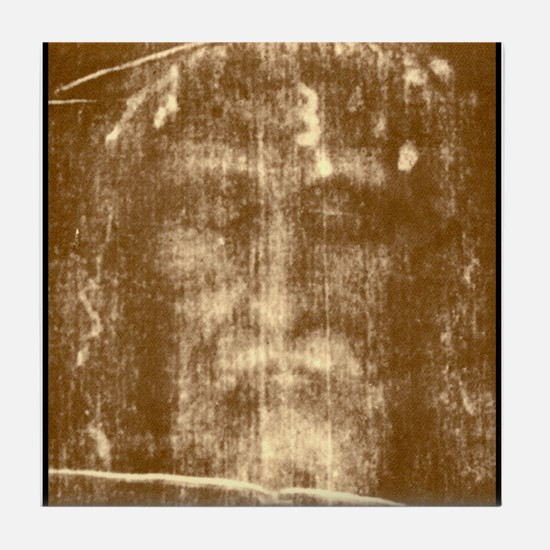 Shroud of Turin Tile Coaster