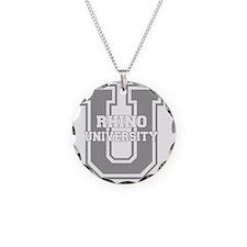 rhinou_black Necklace Circle Charm