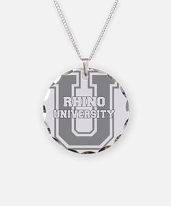 rhinou_black Necklace Circle Charm