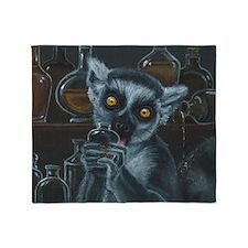 Pirate Lemur Throw Blanket