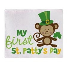 Monkey1stStPatricksDay Throw Blanket