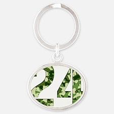 24 Oval Keychain