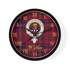 Walker Clan Crest / Tartan Wall Clock