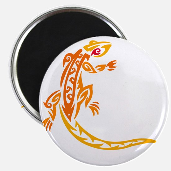 lizard_1 orange 8x7_ Magnet