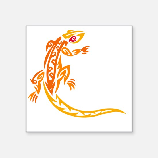 "lizard_1 orange 8x7_ Square Sticker 3"" x 3"""