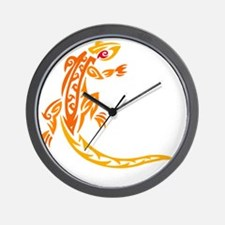 lizard_1 orange 8x7_ Wall Clock