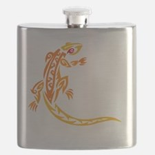 lizard_1 orange 8x7_ Flask