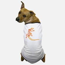 lizard_1 orange 8x7_ Dog T-Shirt
