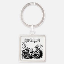 apocalypse1 Square Keychain