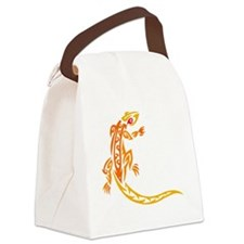 Lizard orange 10x10 Canvas Lunch Bag