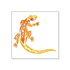"Lizard orange 10x10 Square Sticker 3"" x 3"""