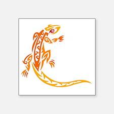 "Lizard orange 10x10 Square Sticker 3"" x 3"""