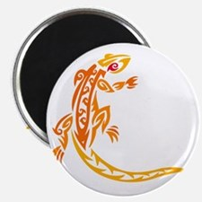 Lizard orange 10x10 Magnet