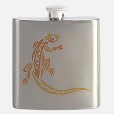 Lizard orange 10x10 Flask