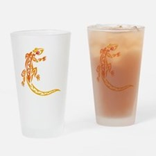 Lizard orange 10x10 Drinking Glass