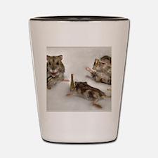 drunk hamsters Shot Glass