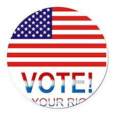 Vote2 Round Car Magnet