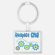 Hospice CNA BLUE Landscape Keychain