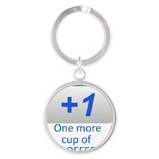 Plus 1 Coffee Round Keychain