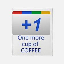 Plus 1 Coffee Throw Blanket