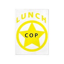 LunchCopShirtBadge 5'x7'Area Rug