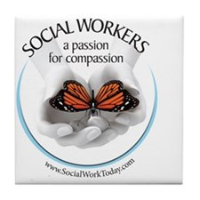 Compassion Tile Coaster